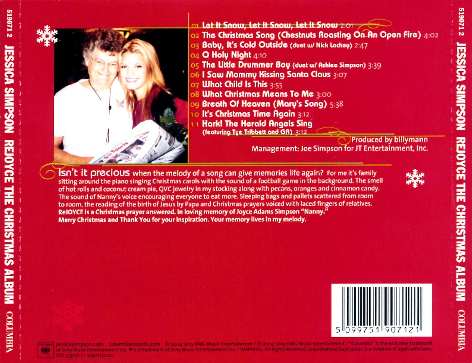 Jessica Simpson – ReJoyce: The Christmas Album (2004) – m4life
