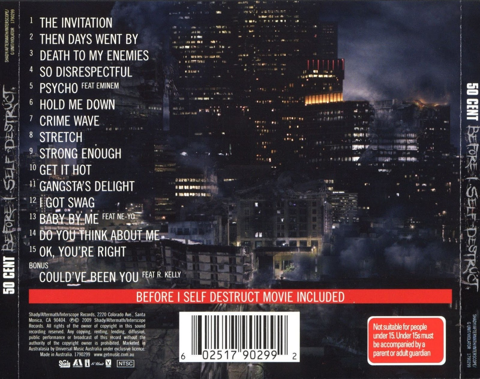 Before I Self Destruct is the fourth studio album by American rapper 50 Cent, released November 9, 2009 on Shady Records, Aftermath Entertainment and ...